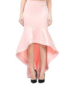 897e327d41 Take a look at this CQbyCQ Blush Trumpet Skirt today! Hi Low Skirts, Trumpet