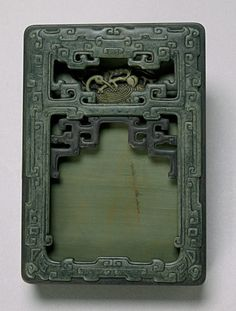 Fine Chinese Imperial (Song Hua Shi) Ink Stone with Inscription, #Qing Dynasty, Sold for $16,380 #asianart #michaans #inkstone http://www.michaans.com/events/2009/auct_06082009.php