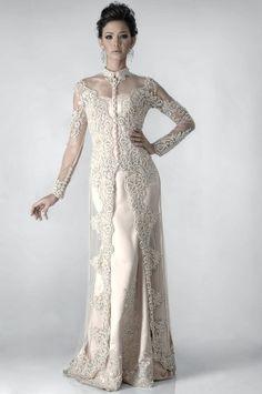 Posted by faganteng at AM Malay Wedding Dress, Kebaya Wedding, Muslimah Wedding Dress, Hijab Wedding Dresses, Pakistani Dresses, Bridal Gowns, Hijab Bride, Kebaya Lace, Kebaya Hijab