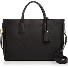 Longchamp Penelope Leather Briefcase (€1.100) ❤ liked on Polyvore featuring bags and briefcases