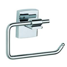 No Drilling Required Klaam Toilet Paper Holder-Single Post in Chrome-KL235-CHR - The Home Depot