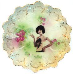 Patti Smith Portrait Plate - Altered Antique Plate. $42.00, via Etsy.