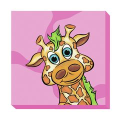 Giraffe Zoo Baby Canvas Art