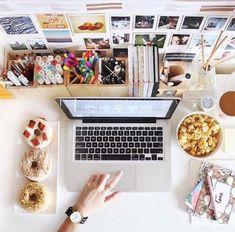 Creative art studio organization ideas for workspace desks 52