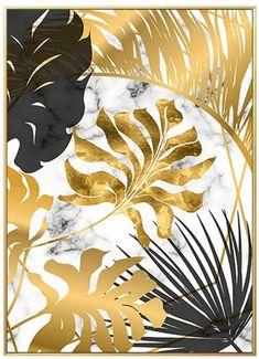 Gold Leaf Art, Leaf Wall Art, Gold Wall Art, Abstract Canvas, Canvas Wall Art, Wall Art Prints, Canvas Poster, Canvas Prints, Canvas Pictures
