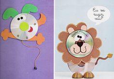 Brinquedos reciclados com CD's usados - Reciclagem e Sucata