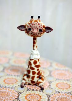 giraffe by da-bu-di-bu-da.deviantart.com on @deviantART Love his skinny neck.