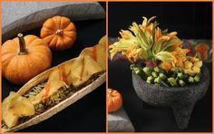 La calabaza junto con sus guías,flores y semillas nos alegran los otoños en nuestras mesas.