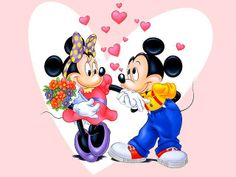 Disney Valentine's Day Minnie and Mickey Mouse