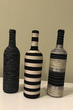 , find handmade, old, and one of a class products and gifts associated with personal search. Liquor Bottle Crafts, Water Bottle Crafts, Wine Bottle Art, Painted Wine Bottles, Diy Bottle, Bottles And Jars, Decorated Wine Bottles, Wrapped Wine Bottles, Bottle Lamps