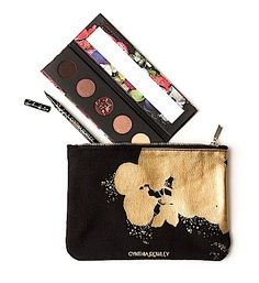 Makeup Review, Swatches: Cynthia Rowley Beauty Launches On Birchbox.com - Liquid Liner, Eye Shadow Palette, Gilded Canvas Bag