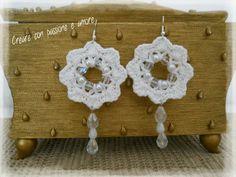 Orecchini in cotone ad uncinetto by https://www.facebook.com/creareconpassioneeamore/ … … #crochet #handmade #earrings #jewelry