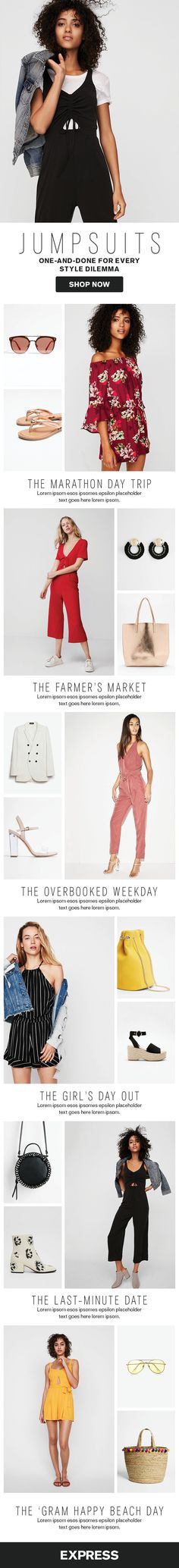 Need a date night outfit? Looking for a new look to wear to work? Solve any wardrobe crisis with an effortlessly chic one-and-done jumpsuit from the Express Spring collection. Read more at express.com/blog.