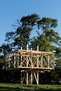 Image 5 of 20 from gallery of Architects Construct Village of 14 Wooden Structur. - Image 5 of 20 from gallery of Architects Construct Village of 14 Wooden Structures at Hello Wood 20 - Wooden Architecture, Pavilion Architecture, Landscape Architecture, Interior Architecture, Sustainable Architecture, Residential Architecture, Contemporary Architecture, Bamboo Structure, Timber Structure
