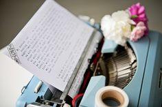 Washi tape typewriter / love letter / romantic letter