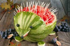 Hedgehog fruit salad fun-food-ideas