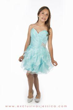 Jessica Vestidos #fiesta #gala #moda #drees #vestidos #juniors #graduación #graduaciones #mexico #DF #15Años #fifteen #graduation #ropa #cool #vestido #corto #color #verde #aqua #acua #agua #menta