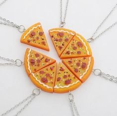 7 PCS In 1 Set Pizza Necklace Best Friends Forever Necklace or Keychian For Friendship Best Gifts for Friends Bff Necklaces, Best Friend Necklaces, Best Friend Jewelry, Statement Necklaces, Cute Jewelry, Charm Jewelry, Jewelry Gifts, Metal Jewelry, Jewelry Accessories