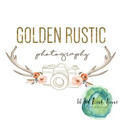 Premade Logo// Golden Rustic// Logo Package// affordable logos// by LilRedBrickHouse Rustic Logo, Red Bricks, Hand Painted Signs, Original Art, Packaging, Etsy Shop, Logos, House, Design