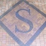 Paver patio with monogram. Non-tumbled pavers. Front Door Steps, Patio Pictures, Patio Design, Google Images, Picture Photo, Home Remodeling, Driveway Ideas, Home And Garden, Monogram