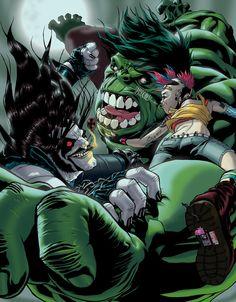 #Hulk #Fan #Art. (Hulk X Lobo X Tank Girl pinup) By: DRE. ÅWESOMENESS!!!™ ÅÅÅ+