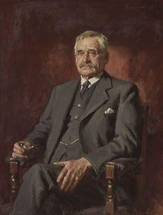 1935: John Longstaff;  Title: AB (Banjo) Paterson:  Medium:  oil on canvas;  Dimensions:  110 x 84cm;