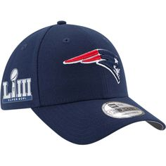90c5f2be6 Men s New England Patriots New Era Navy Super Bowl LIII Side Patch League  9FORTY Adjustable Hat