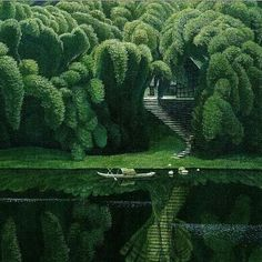 'Bottle Brush Trees' by #jianchongmin via @avant.arte #Regram via @www.instagram.com/p/Bhv76_xFEHd/?explore=true