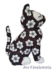 ♥ Crochet Pattern - Luna the African Flower Cat ♥