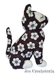 ♥ Crochet Pattern - Luna the African Flower Cat ♥