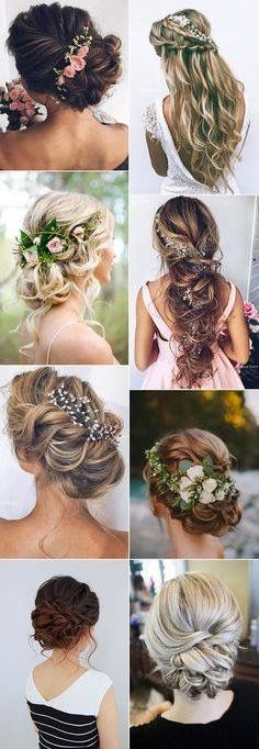 Top 20 Wedding Hairstyles Ideas for 2017 . - Top 20 Wedding Hairstyles Ideas for 2017 Trends # Hairstyles # Ideas … - Wedding Hairstyles For Long Hair, Unique Hairstyles, Wedding Hair And Makeup, Down Hairstyles, Pretty Hairstyles, Hair Makeup, Hairstyle Ideas, Wedding Hairdos, Curly Hair Styles Wedding