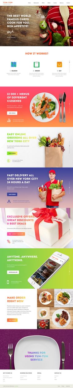 Yum-Yum is a fresh template for restaurants and food delivery. Features 29 well organized PSD files 1280 px grid Mobile version included Bright design E. Logo Inspiration, Restaurant Website, Website Layout, Email Design, User Interface Design, Design Development, Psd Templates, Layout Design, Clean Recipes