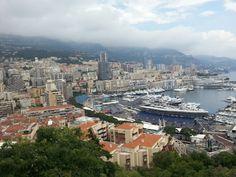 Viewing Monte-Carlo and Port de Monaco from Prince's Palace of Monaco...