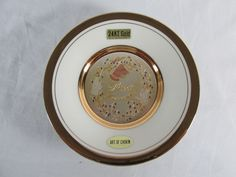 24KT Gold, Art Of Chokin, Happy Anniversary Collector Plate