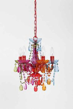 Small Rainbow Chandelier  -- Urban Outfitters -- don't usually PIN store items, on purpose, but this is a charmer...saw it come thru the warehouse and had to find it...