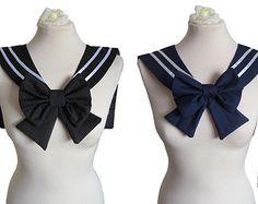 Black/Navy Sailor Collar Fuku / Seifuku (制服) Japanese School Uniform Small Bow