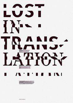 Sebastian Ristow | 'Lost in Translation' poster for Burg Giebichenstein Hochschule für Kunst und Design Halle