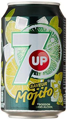 7 Up Boisson Gazeuse Saveur Mojito 6 canettes de 33 cl