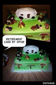Chocolate retirement cake