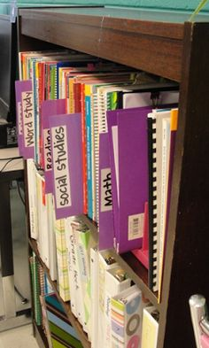 Clutter-Free Classroom: ORGANIZE YOUR TEACHER RESOURCES {CFC Project 2013}..... Do this with different colored folders and place smaller resources in the folders