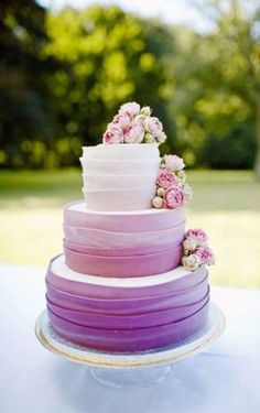 Wedding cake wedding planner annika wietzorke decoration muenster the cakes . - Wedding cake wedding planner annika wietzorke decoration muenster the cake maker pink vintage with - Purple Wedding Cakes, Beautiful Wedding Cakes, Beautiful Cakes, Amazing Cakes, Cake Wedding, Wedding Flowers, Purple Party, Wedding Reception, Dream Wedding