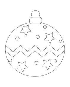Ball Ornament Coloring Pages Christmas Ornament Coloring Page, Printable Christmas Ornaments, Christmas Coloring Sheets, Christmas Templates, Christmas Crafts For Kids, Xmas Crafts, Christmas Colors, Christmas Art, Christmas Decorations