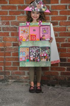This is ab-sew-lutely wonderfully creative! A Lalaloopsy diorama costume! From Two Cities Two Girls: October Crafts and Costume Design
