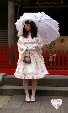 Sweet Lolita Yukata - 日本ロリータ   黙れ小僧
