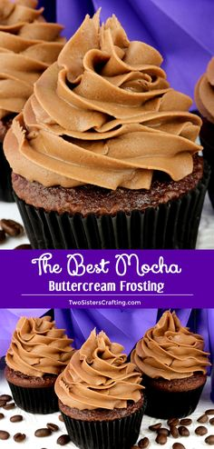 The Best Mocha Buttercream Frosting is a delicious blend of chocolate and coffee in one creamy and easy to make homemade buttercream frosting Chocolate Frosting never tas. Homemade Buttercream Frosting, Chocolate Buttercream Frosting, Chocolate Icing, Mocha Chocolate, Chocolate Recipes, Homemade Frosting Recipes, Chocolate Roulade, Chocolate Smoothies, Homemade Chocolate Frosting