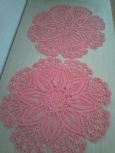créations crochet: Napperons roses