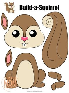 Forest Animal Crafts, Animal Crafts For Kids, Forest Animals, Woodland Animals, Woodland Forest, Felt Animal Patterns, Stuffed Animal Patterns, Fall Preschool, Preschool Crafts