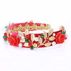 Red headband, red baroque tiara, red wedding crown, red Dolce, Greek tiara, beards headband, red crown, dolce headband, evening dress, tiara  Fantastic hair accessories for weddings, prom, parties or other special occasions.  - Handmade - Size: 3cm (1.2) wide - **100% FULL MONEY BACK GUARANTEE** Unlike others sellers, WE STAND behind our brand ILoveCrowns and provide 100% FULL MONEY BACK guarantee, if, For Whatever Reason, You dont Absolutly Love your jewelry, just contact us and we will do…