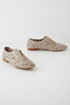 Lacy Suede Oxfords, Anthro, super cute with neon ankle socks!