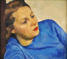 Edwin Holgate (Canada, 1892-1977), Portrait of a Young Woman, oil on panel, 1938. In addition to being considered the eight member of the Group of Seven, Holgate was also a founding member of the Beaver Hall Group. Sold through Masters Gallery, Vancouver.